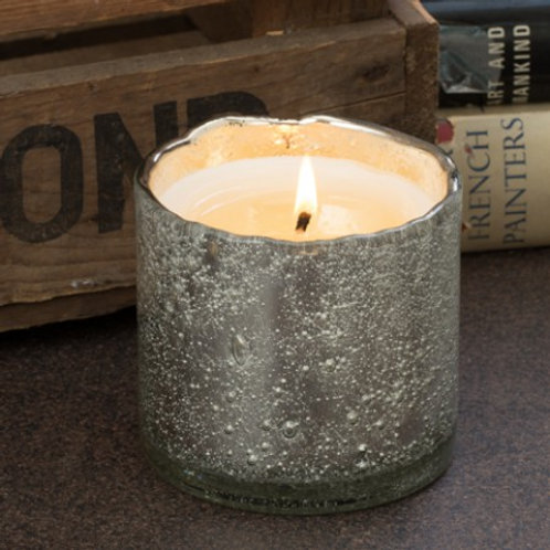 Small Ginger Patchouli Bubble Glass Candle