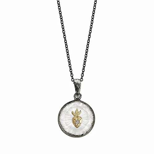 Small Amulet Sacred Heart Necklace by Acanthus