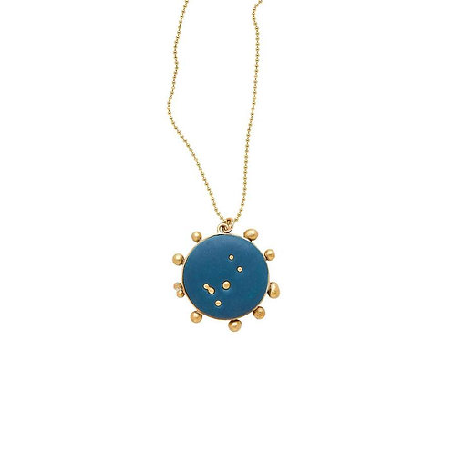Midnight Sky Bronze Clay Pendant Necklace by Julie Cohn