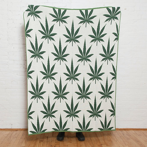 Eco Cannabis Repeating Leaf Throw by In2green
