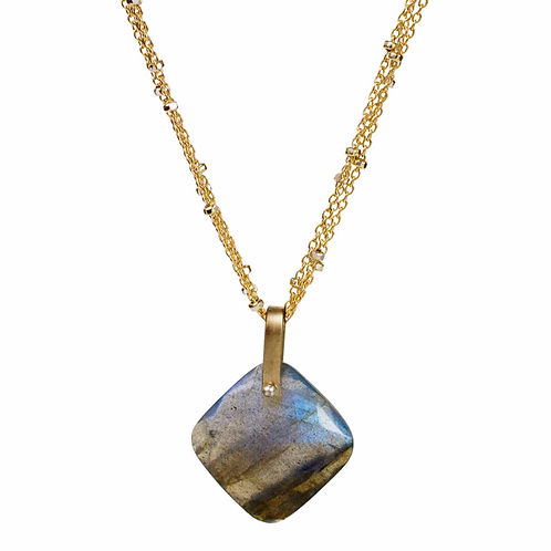 Hera Necklace in Labradorite by Lulu Designs