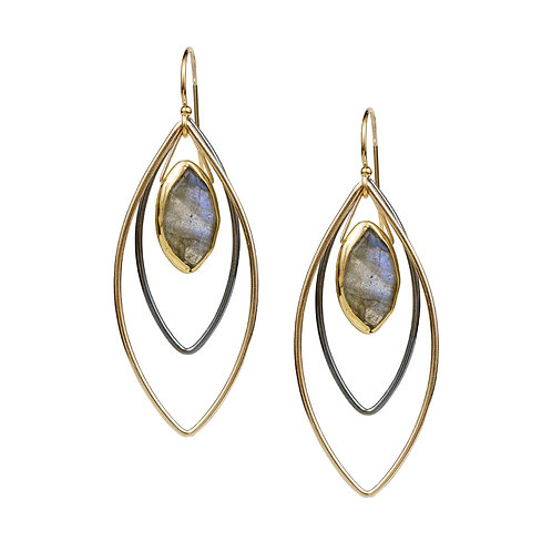 Halley Earrings with Labradorite by Lulu Designs
