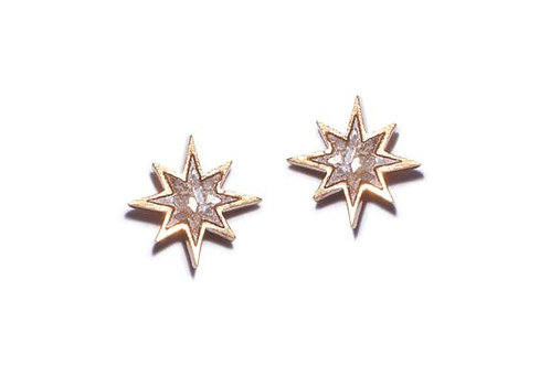 18k Gold Vermeil Nash Stud Earrings by Shana Gulati