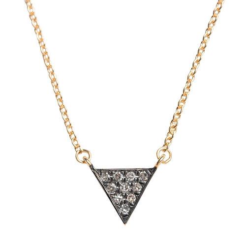 Grande Triangle Pave Diamond Drop Necklace by Original Hardware