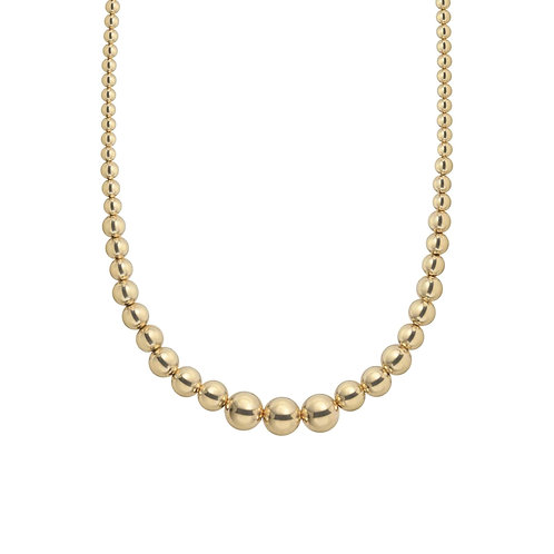 Gold Baller Graduated Necklace by Jaime Nicole