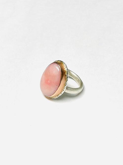 Pink Peruvian Opal Ring by Jamie Joseph