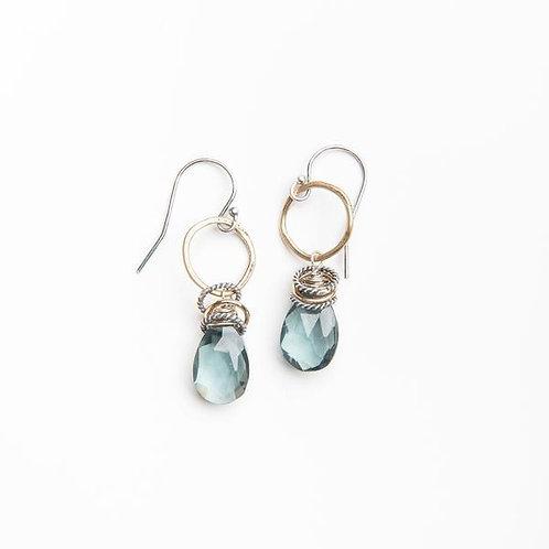 Full Circle Gemstone Earrings with Hydro Quartz by Original Hardware
