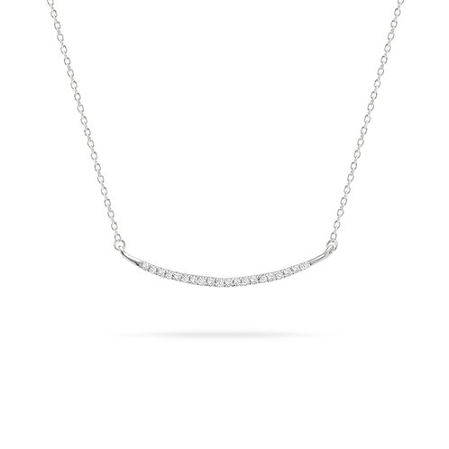 Large Pave' Curve Pendant in Sterling Silver by Adina Reyter