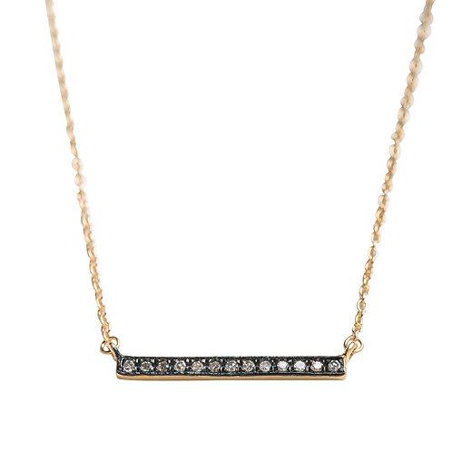 Pave Diamond Bar Necklace by Original Hardware