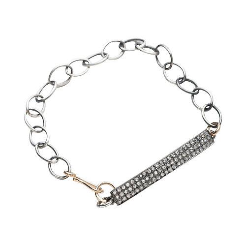 Pave Diamond Bar Bracelet by Original Hardware