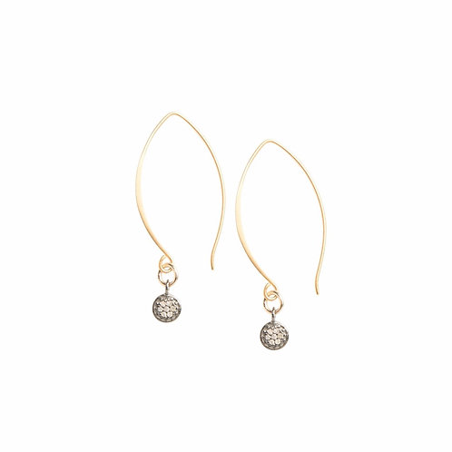 Everyday Diamonds Drop Earrings in Gold Fill by Original Hardware