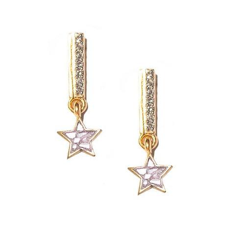 18k Gold Vermeil Diamond Este Earrings by Shana Gulati