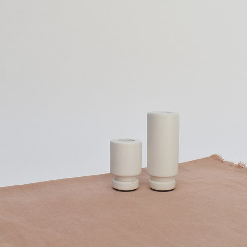 Large Candle Holder in Chalk