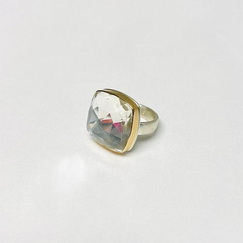 Square Crystal Quartz Ring by Jamie Joseph