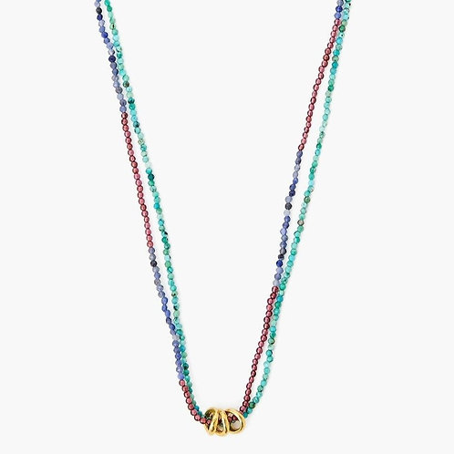 3 Ring Turquoise Necklace by Chan Luu