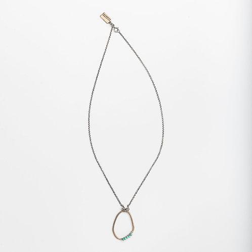 Freeform Gemstone Wrap Necklace with Turquoise by Original Hardware