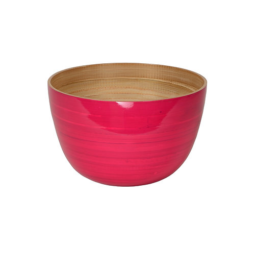 Medium Tall Bamboo Bowl in Fuchsia
