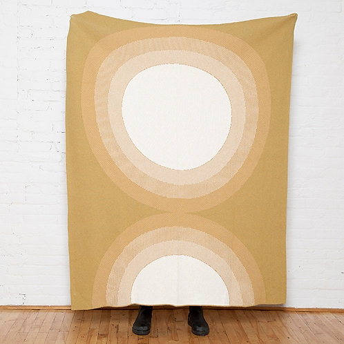 Eco Full Circle Throw in Moss/Straw/Milk  by Kelly Harris Smith