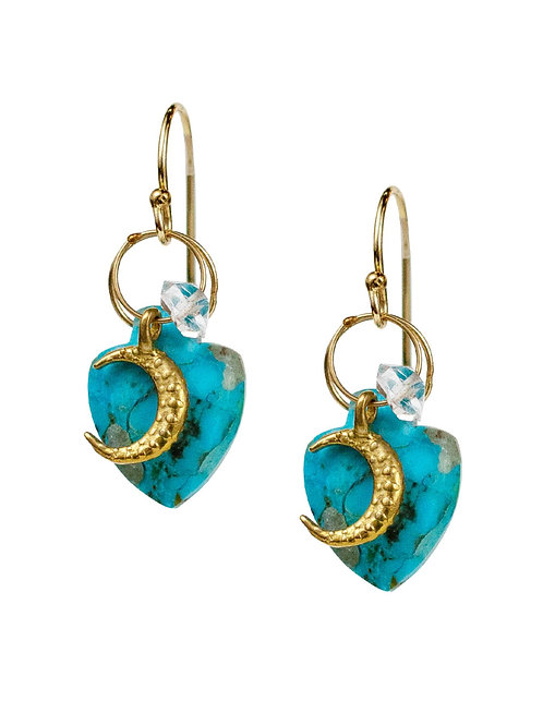 Luna Turquoise Earrings by Lulu Designs