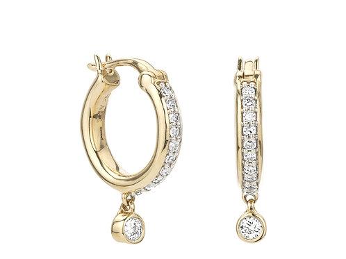 Pave' Diamond Drop Huggies by Adina Reyter