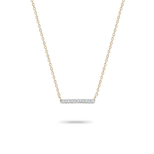 Pave' Bar Gold Pendant by Adina Reyter