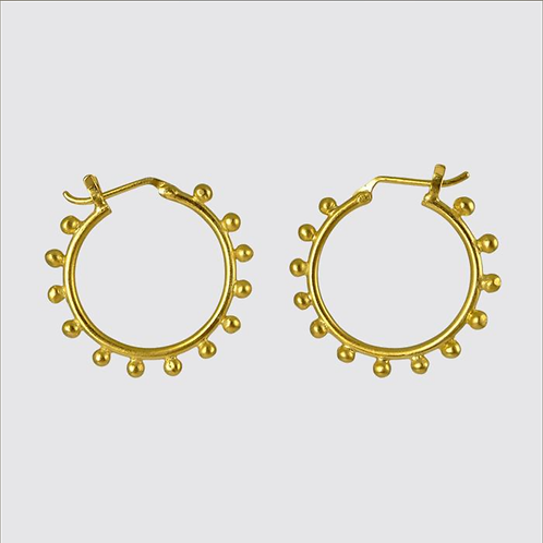 Granulated Hoop Earrings by Jane Diaz