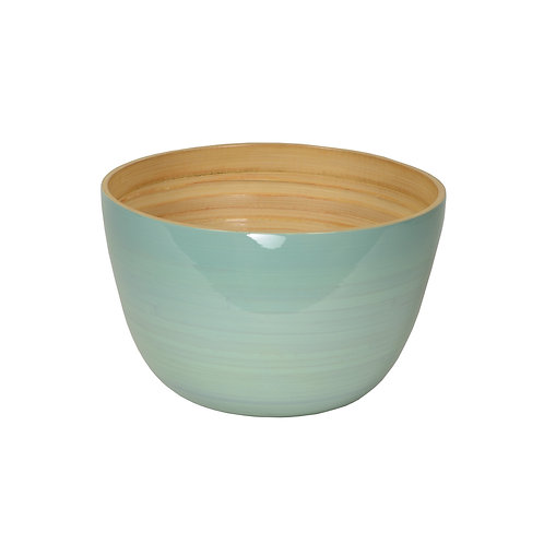 Medium Tall Bamboo Bowl in Ice Blue