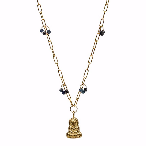 Ila Necklace with Buddha by Lulu Designs