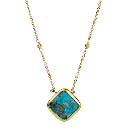 Lucia Necklace with Turquoise by Lulu Designs
