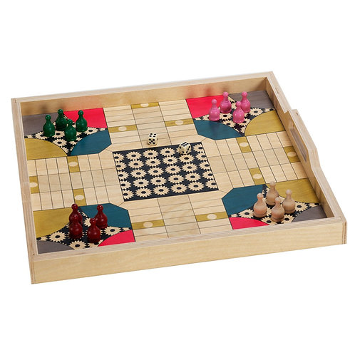 Parcheesi Serving Tray & Game Set