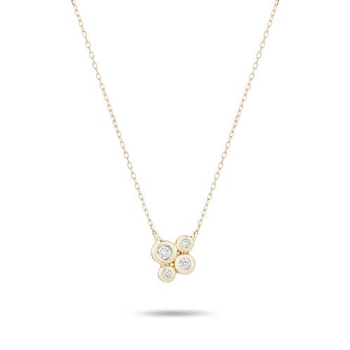 4 Diamond Barnacles Necklace by Adina Reyter
