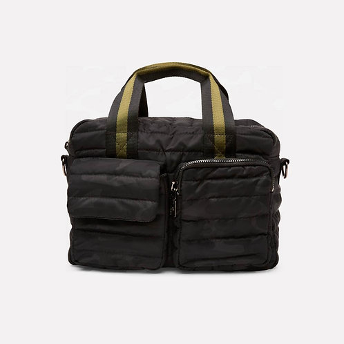 Soho Satchel in Black Camo