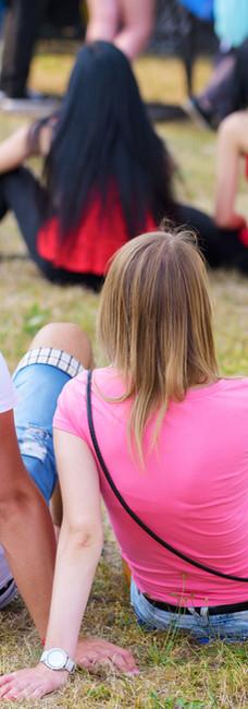 Sitting on Grass