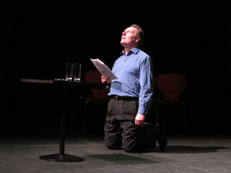 On stage at Birmingham Repertory Theatre