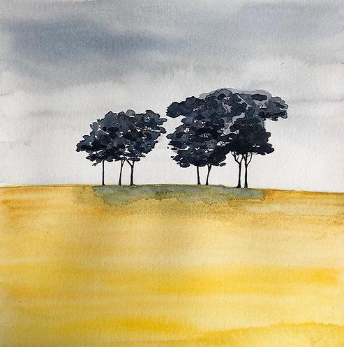 Yellow Landscape (Framed)