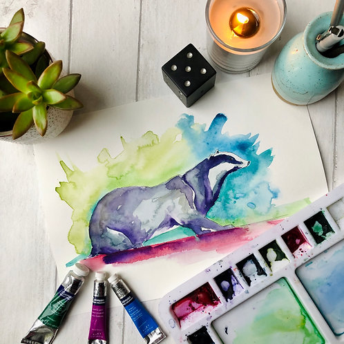 Colourful Badger
