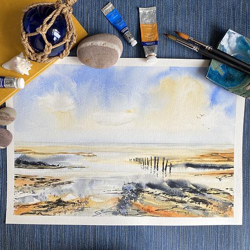 Pilings in the Sea
