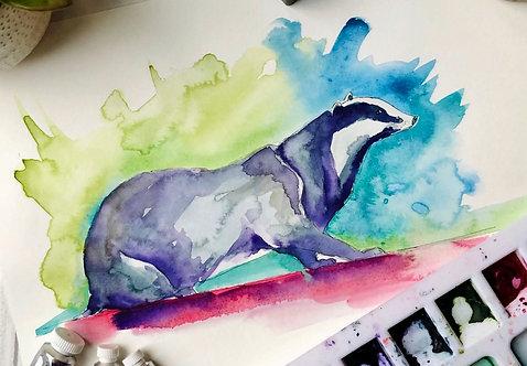 Multicoloured Badger