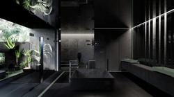 חדר רחצה שחור