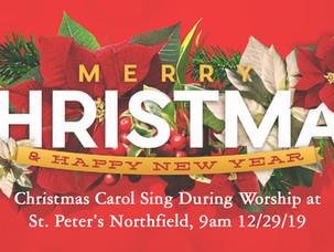 Worship with us - Christmas Carol Sunday!!