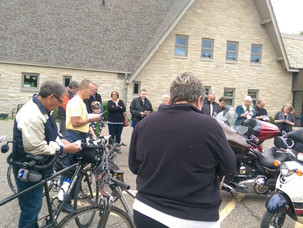 Fun time blessing the bikes!