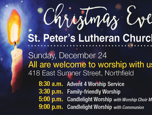 Christmas Eve at St. Peter's - Come worship with us!