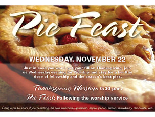 Don't miss the great Pie Feast!
