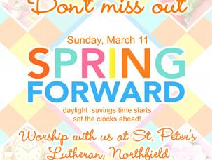 Set the Clocks Ahead!
