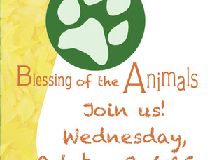 Blessing of the Animals 10/3