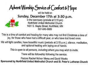 Advent Worship Service of Comfort & Hope