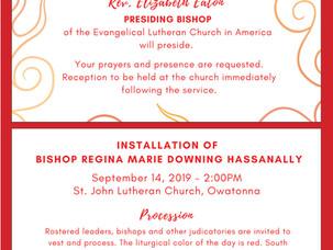 Installation of New Bishop