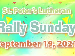 Sunday 9/19 RALLY SUNDAY