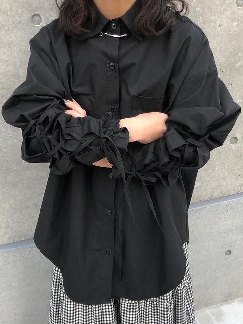 Lace-up shirt