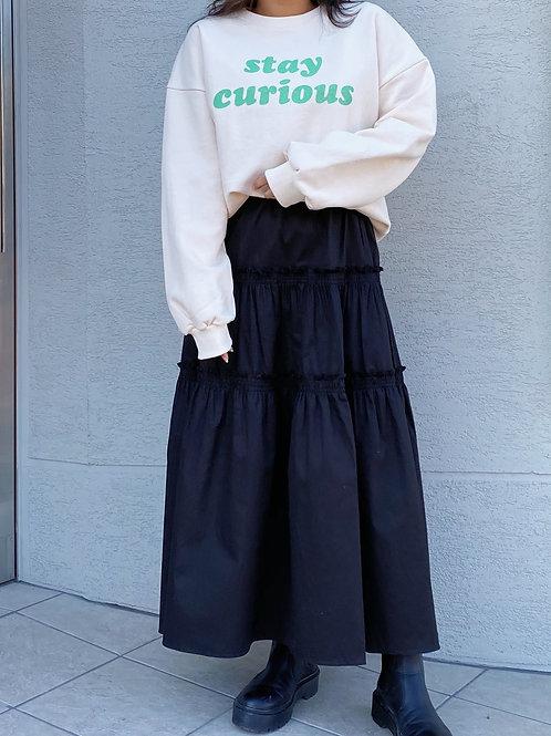 Cotton frill skirt